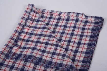Coloured Check Tea Towel Pack 10 - 17 x 27